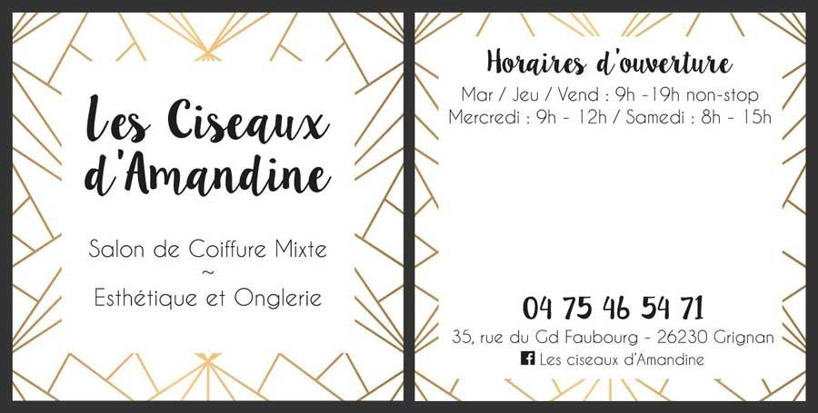 Insignia-Enseigne - Les Ciseaux D-Amandine - Cartes de visite carrées