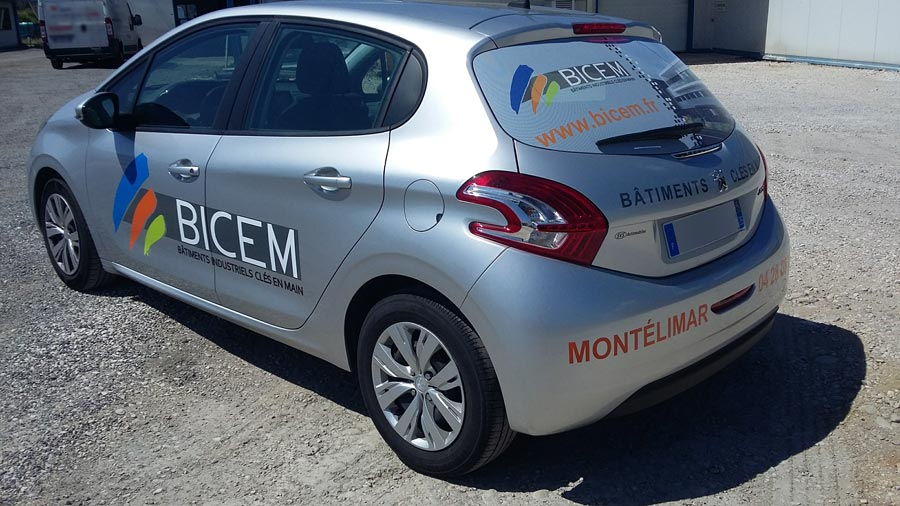Insignia-Enseigne - Marquage Véhicule Professionnel Bicem Full Covering Adhésif et Mircoperforé