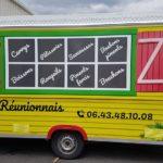 Insignia Enseigne face avant food truck le reunionnais