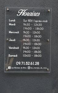 Insignia-Enseigne-plaque-horaire-les-mariees-de-nina